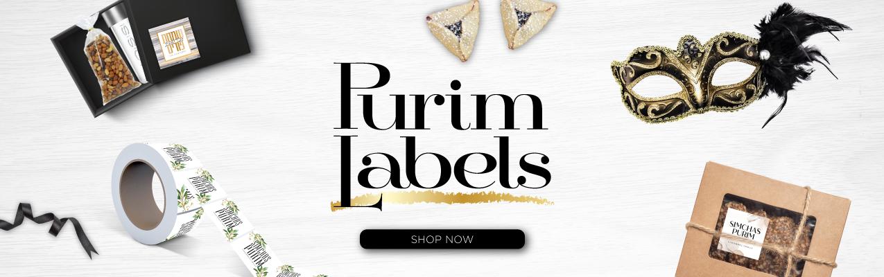 purim labels